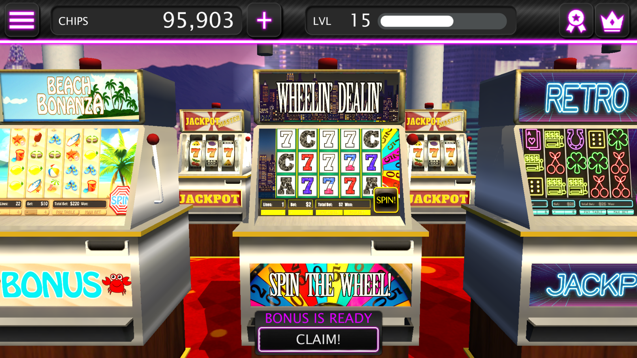mighty slots mobile casino lobby